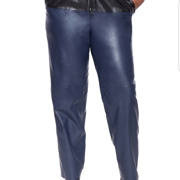 Eloquii Pants - Faux leather joggers